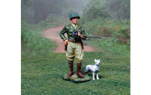 General George S. Patton with his dog, Willy, single figure, dog and removable base