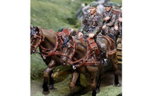 Limber Horse Set (Waffen SS), Two Horses with rider figure (CS-00873A and CS-00873B)