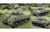 Sherman Normandy Set w/ Command figure and sand bag kit, WWII