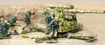 German 88mm with Two Crew Fallschirm North Afrika Korps