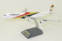 Air Belgium Airbus A340-300 OO-ABA With Stand 120 models