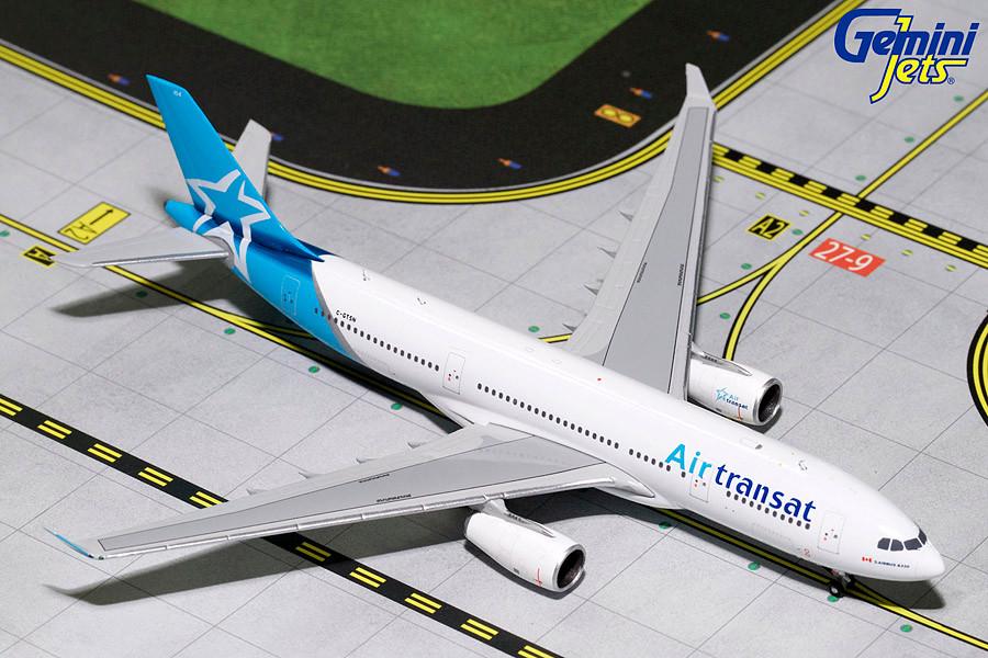 Air Transat A330 200 2018 Livery C Gtsn Gemini Diecast Display
