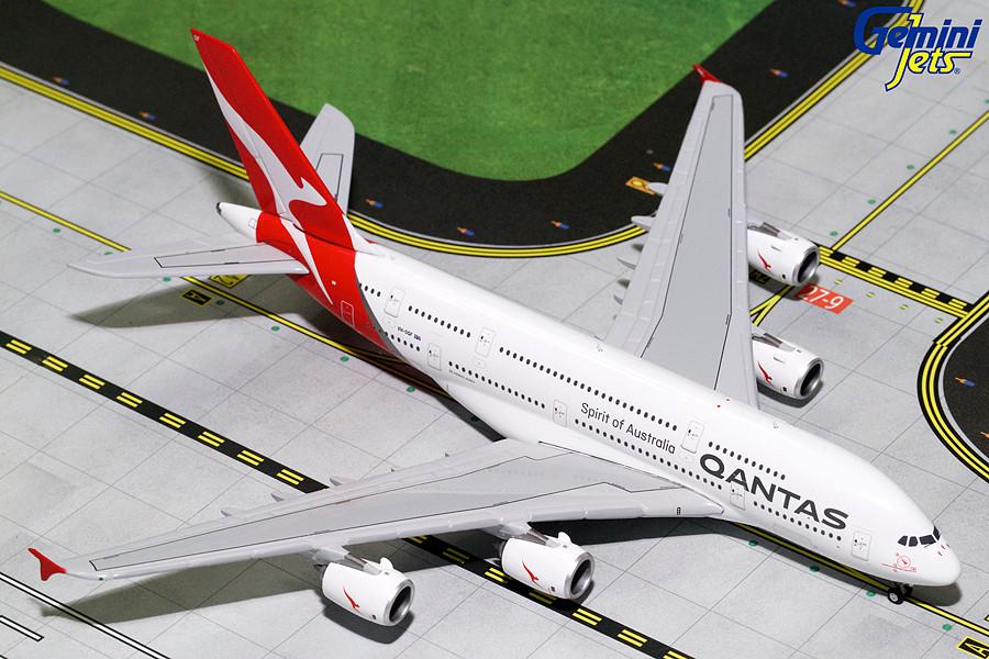 GeminiJets Qantas Airways A380 VH-OQG 1:400 Scale Die Cast Airplane Model