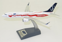 LOT Boeing 737-8 Max SP-LVD Proud of Polands Independence With Stand