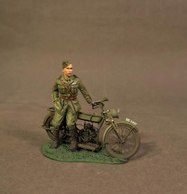 British Pilot with Motorbike, Knights of the Skies Collection, WWI (4pcs)