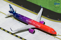 Alaska Airlines A321neo, N927VA More to Love Gemini Diecast Display Model