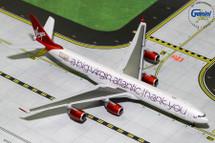 Virgin Atlantic Airways A340-600, G-VNAP A Big Thank You Gemini Diecast Display Model