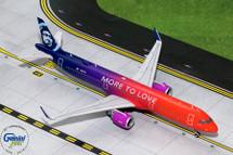 Alaska Airlines Airbus A321neo, N927VA More to Love Gemini Diecast Display Model