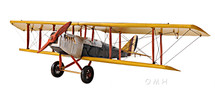 JN-4 Jenny Curtiss Yellow Biplane by Old-Modern Handicrafts