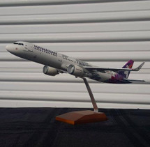Hawaiian A321neo New Livery N202HA (Resin) Gemini Diecast Display Model