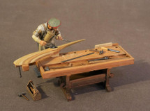 German Carpenter with Workbench, Knights of the Skies, single figure and accessories