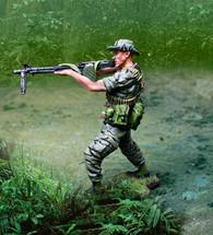 Vietnam LRRP Firing M60 Figure