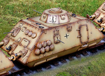 German Armored Car Scout w/track with one fig and track section