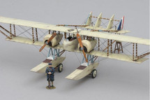 Caudron Seaplane w/ French Figure WWI Mahogany Display Model