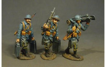 St. Etienne Mle 1907 Machine Gun Crew, French Infantry, 1917-1918, three figures