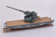 128mm Flak 40 Anti-Aircraft Railway Car German Army, World War II (Plastic)