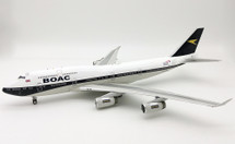 BOAC and British Airways G-BYGC Boeing 747-400 with stand 100 year anniversary