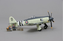 "Sea Fury RAF, Flown by Lieutenant Peter ""Hoagy"" Carmichael, 802 Squadron, Korean War Mahogany Display Model"