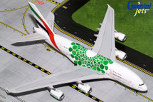 Emirates Airlines A380-800, A6-EEW Green Expo 2020 Gemini Diecast Display Model