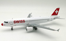 Swiss International Air Lines Airbus A320-200 HB-IJI Red Nose With Stand