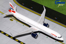 British Airways Airbus A321neo, G-NEOP Gemini 200 Diecast Display Model