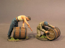 Ground Crew with Beer Kegs, WWII -- two figures