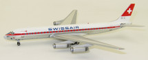 Swissair Douglas DC-8-62 HB-IDI Polished With Stand