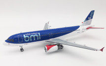 BMI British Midland Airbus A320-200 G-MIDS With Stand
