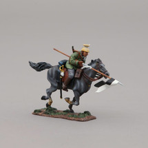 German Uhlan Cavalry Trooper with Lowered Lance, single mounted figure