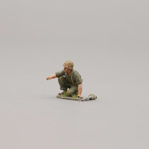 Kneeling USMC Soldier with base, single figure with weapon