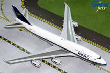 British Airways B747-400 (BOAC Retro, Flaps Down Configuration) G-BYGC Gemini 200 Diecast Display Model
