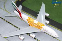 Emirates A380-800 (Orange Expo 2020) A6-EOU Gemini Diecast Display Model