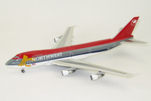 Northwest Airlines Boeing 747-200 Desert Storm N625US Yellow Ribbon With Stand