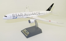 Star Alliance Ana Boeing 787-9 JA899A Polished With Stand