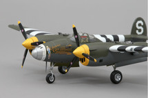 P-38 California Cutie WWII Mahogany Display Model