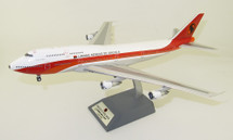 TAAG Angola Airlines D2-TEA Boeing 747-312M with stand