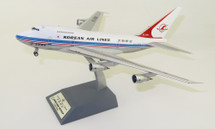 Korean Air Lines Boeing 747SP-B5 HL7456 Polished With Stand