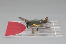 Ki-100 WWII Late War Defence of Japan Colour Scheme Mahogany Display Model