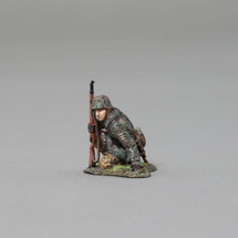 Kneeling infanteer with rifle raised from the 12th SS Hitlerjugend with base, WWII