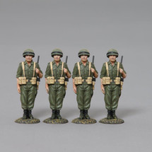 A Four Man Set of Israeli Paratroops Stand to Attention, Israeli Army WWII