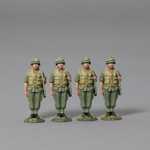 A Four Man Box Set of USMC All Kitted Out for the Jungle, The Vietnam War WWII