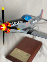 """P-51D MUSTANG SILVER """"OLD CROW"""" 1/24 SIGNED BY BUD ANDERSON #28"""