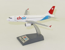 Chair Airlines Airbus A319-112 HB-JOH With Stand
