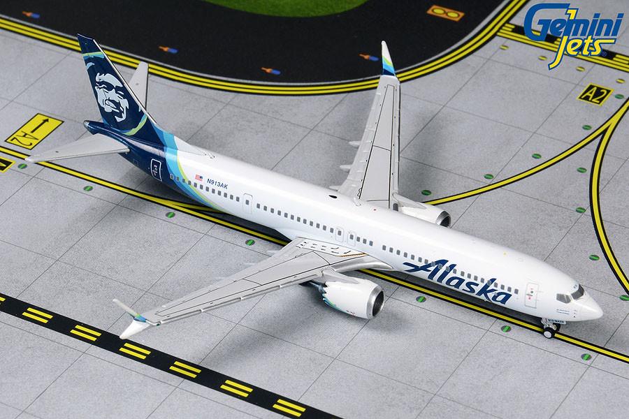 Gemini Jets Alaska Airlines Boeing 737 MAX 9 1//200 G2ASA855