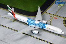 Emirates Airlines Boeing 777-300ER, A6-EPK Blue Expo 2020 Livery Gemini Diecast Display Model