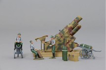 Skoda Howitzer in Three-Tone Camouflage with Three Man Canon Crew WWII