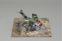 Focke Wulf Ta-183 Huckebein, Werner Molders WWII Display Model, Weathered for Effect