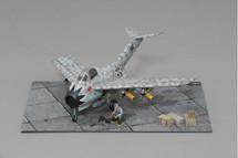 Focke Wulf Ta-183 Huckebein, Bubbi Hartmann WWII Display Model, Weathered for Effect