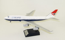 British Airways Boeing 747-400 G-CIVB Negus livery With Stand 100 year anniversary