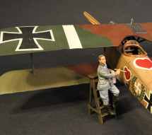 Ltn. Werner Voss Painting His Airplane WWI, Single Figure